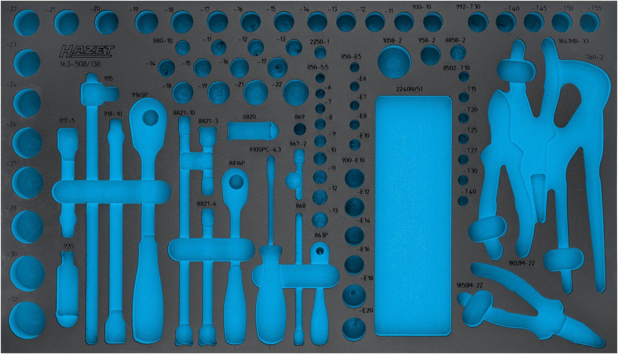 HAZET 2-Komponenten Weichschaum-Einlage 163-508L