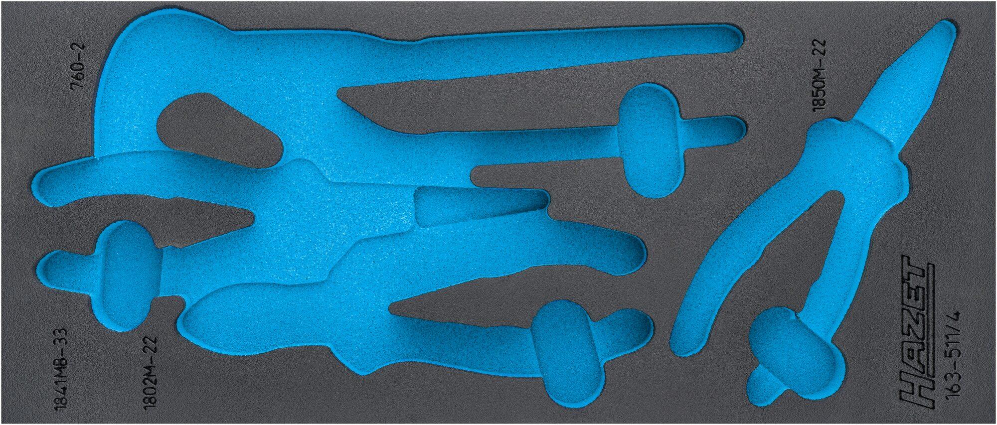 HAZET 2-Komponenten Weichschaum-Einlage 163-511L