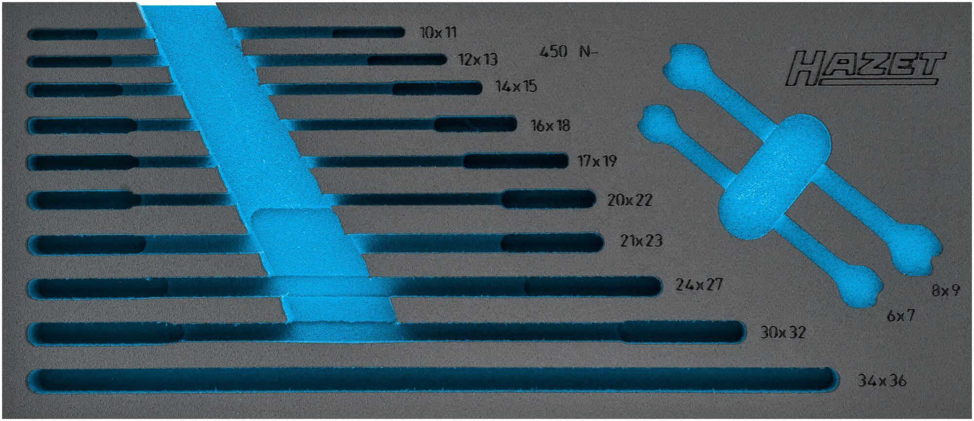 HAZET 2-Komponenten Weichschaum-Einlage 163-519L