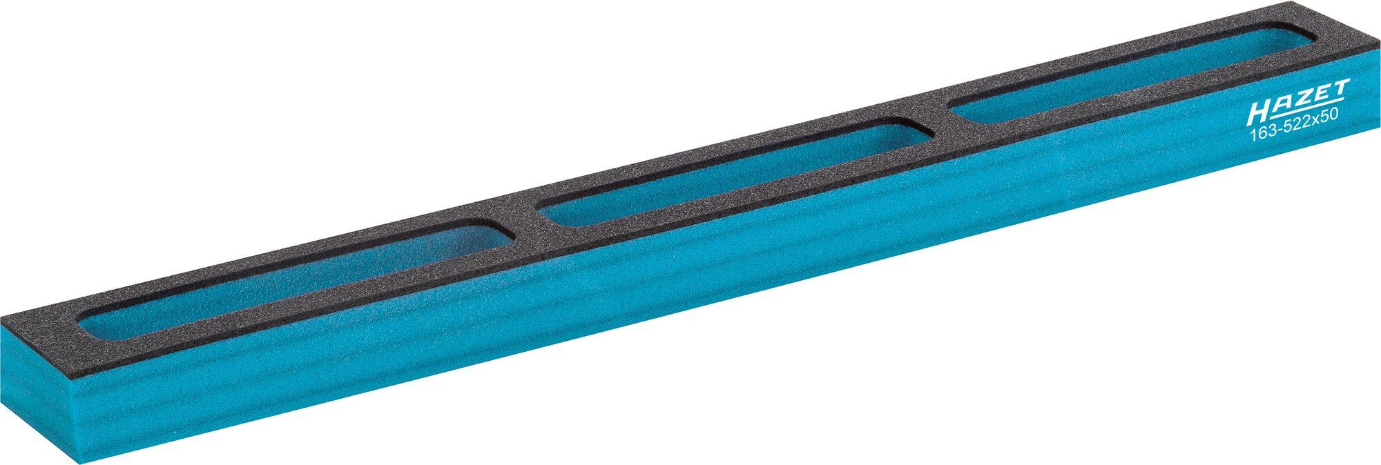 HAZET Weichschaum-Einlage ∙ mit Kleinteilefächern 163-522X50