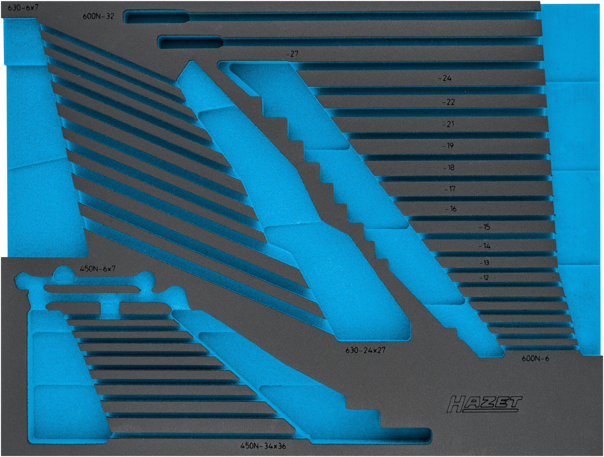 HAZET 2-Komponenten Weichschaum-Einlage 163-525L