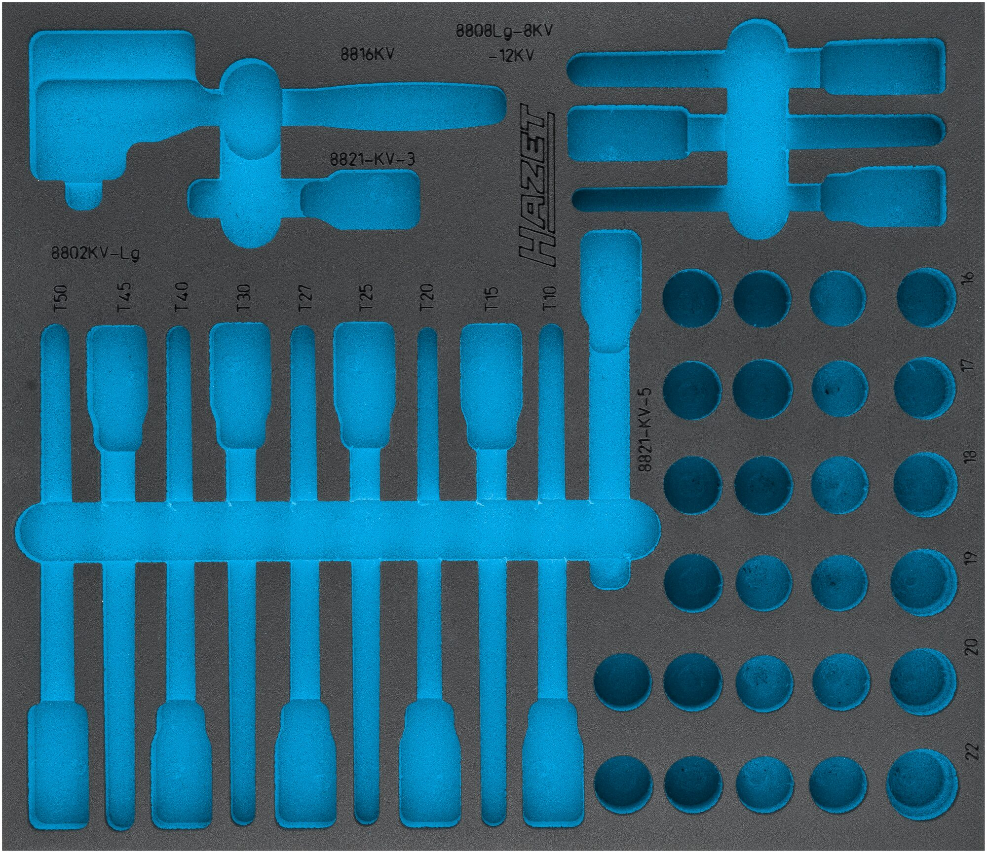 HAZET 2-Komponenten Weichschaum-Einlage 163-545L