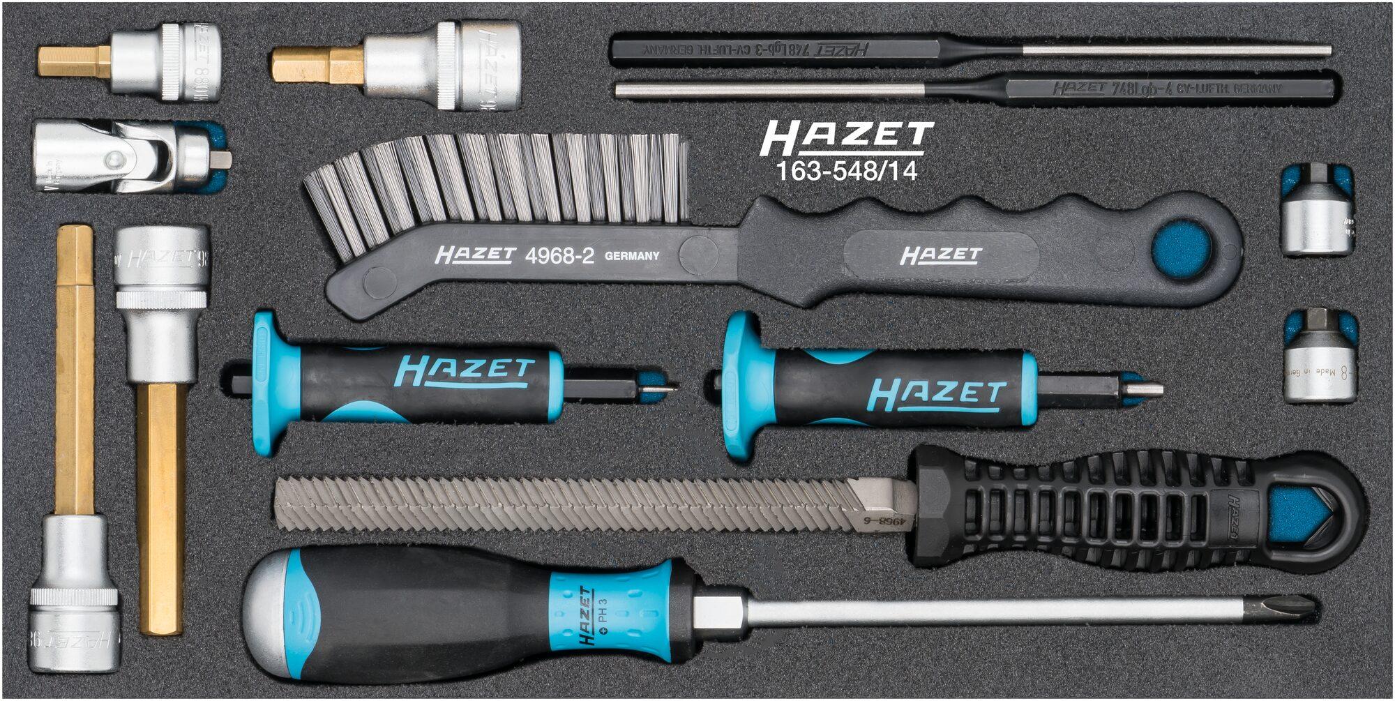 HAZET Universal Bremsensatz 163-548/14 ∙ Anzahl Werkzeuge: 14
