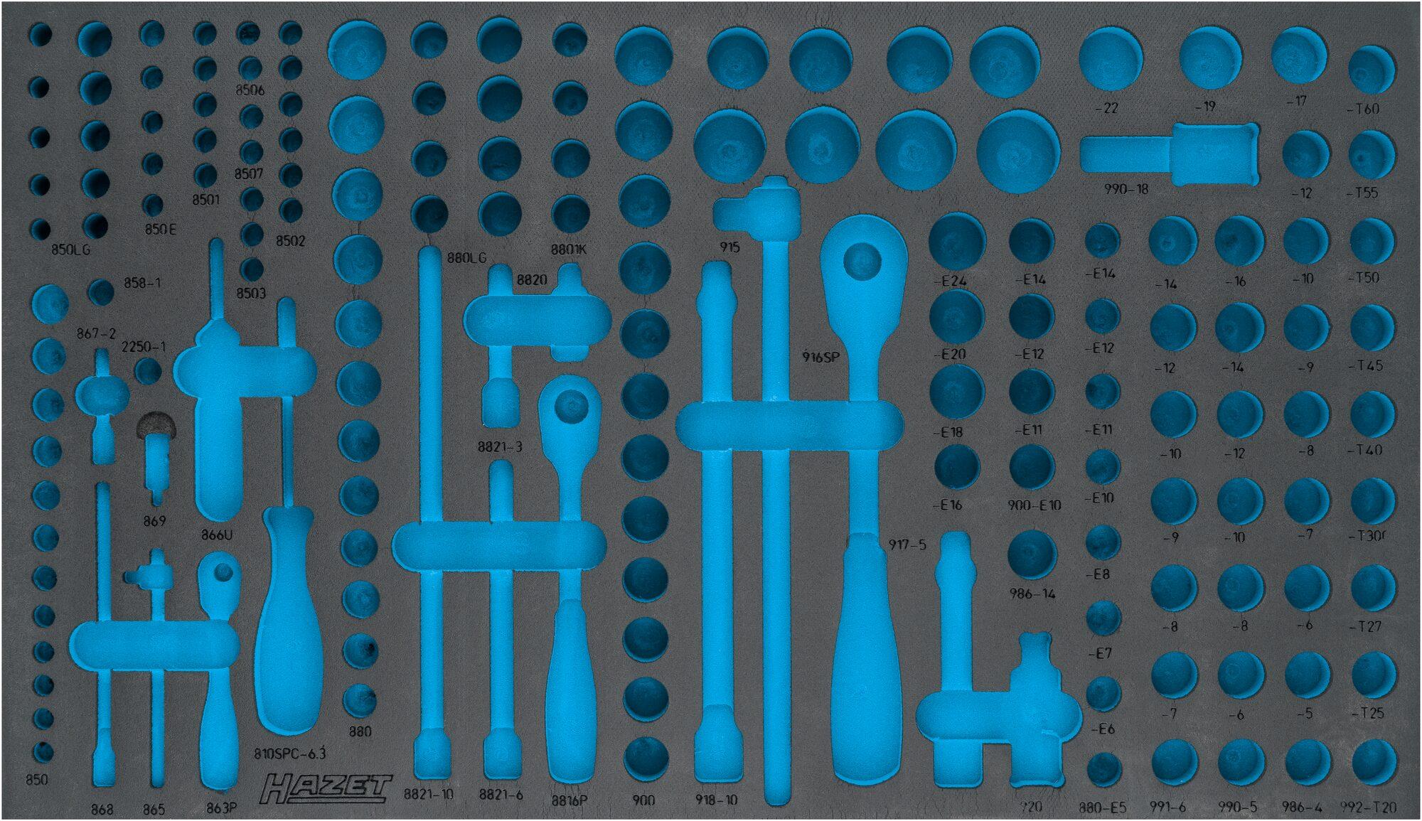HAZET 2-Komponenten Weichschaum-Einlage 163-549L