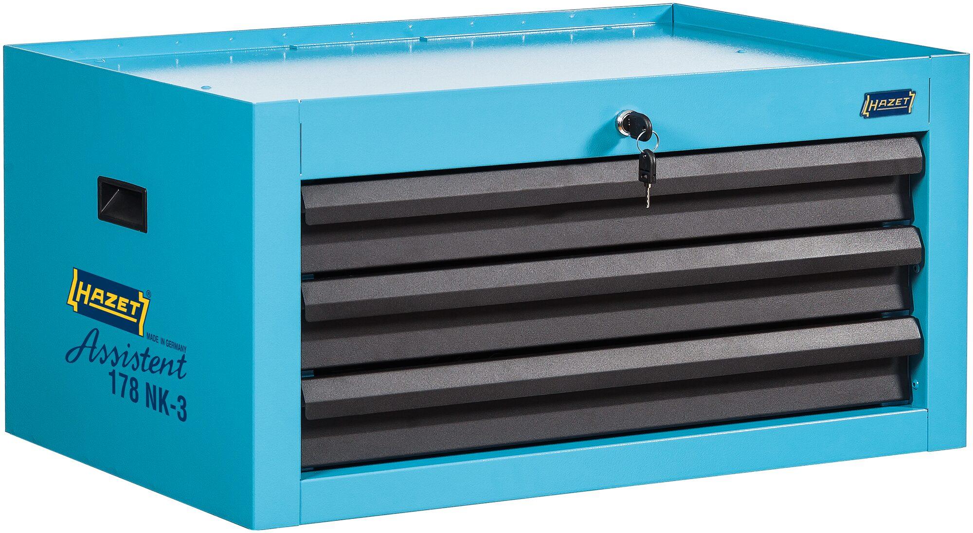 HAZET Aufsatzkoffer 178NK-3 ∙ Schubladen, flach: 3x 80x527x348 mm