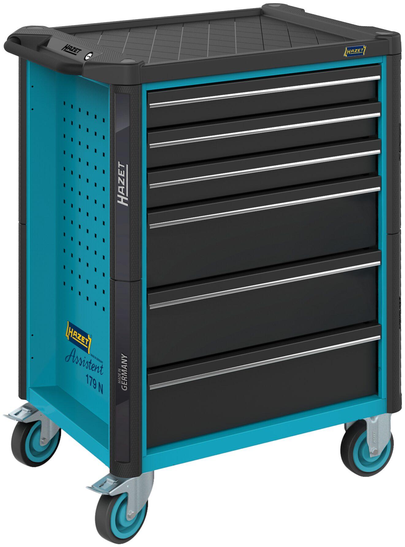 HAZET Werkstattwagen Assistent 179N-6 ∙ Schubladen, flach: 3x 81x522x398 mm