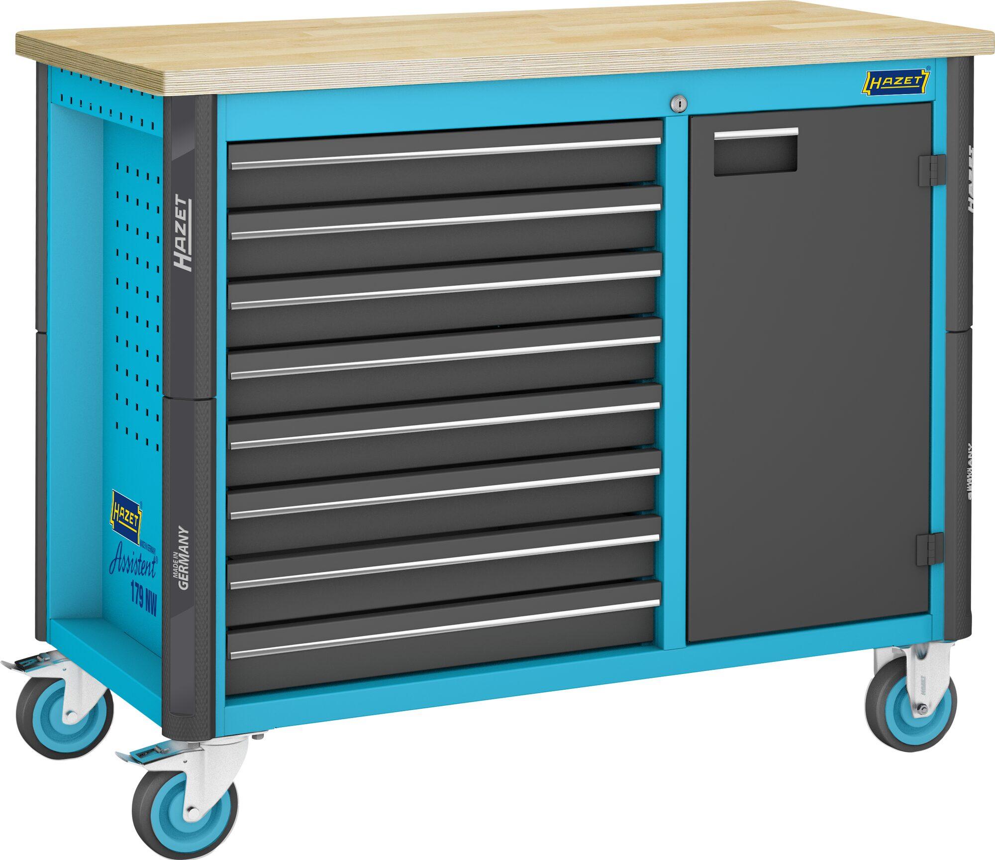 HAZET Fahrbare Werkbank 179NW-8 ∙ Schubladen, flach: 8x 81x522x398 mm