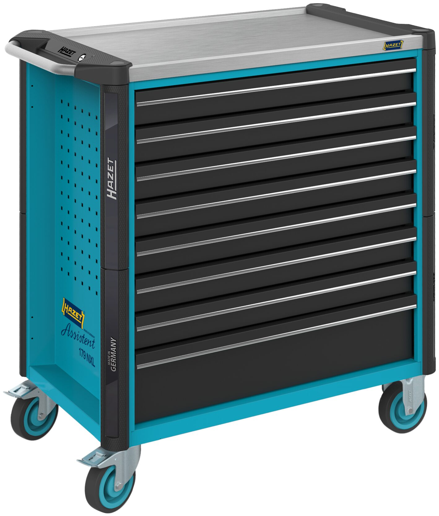 HAZET Werkstattwagen Assistent 179NXL-8 ∙ Schubladen, flach: 7x 81x696x398 mm
