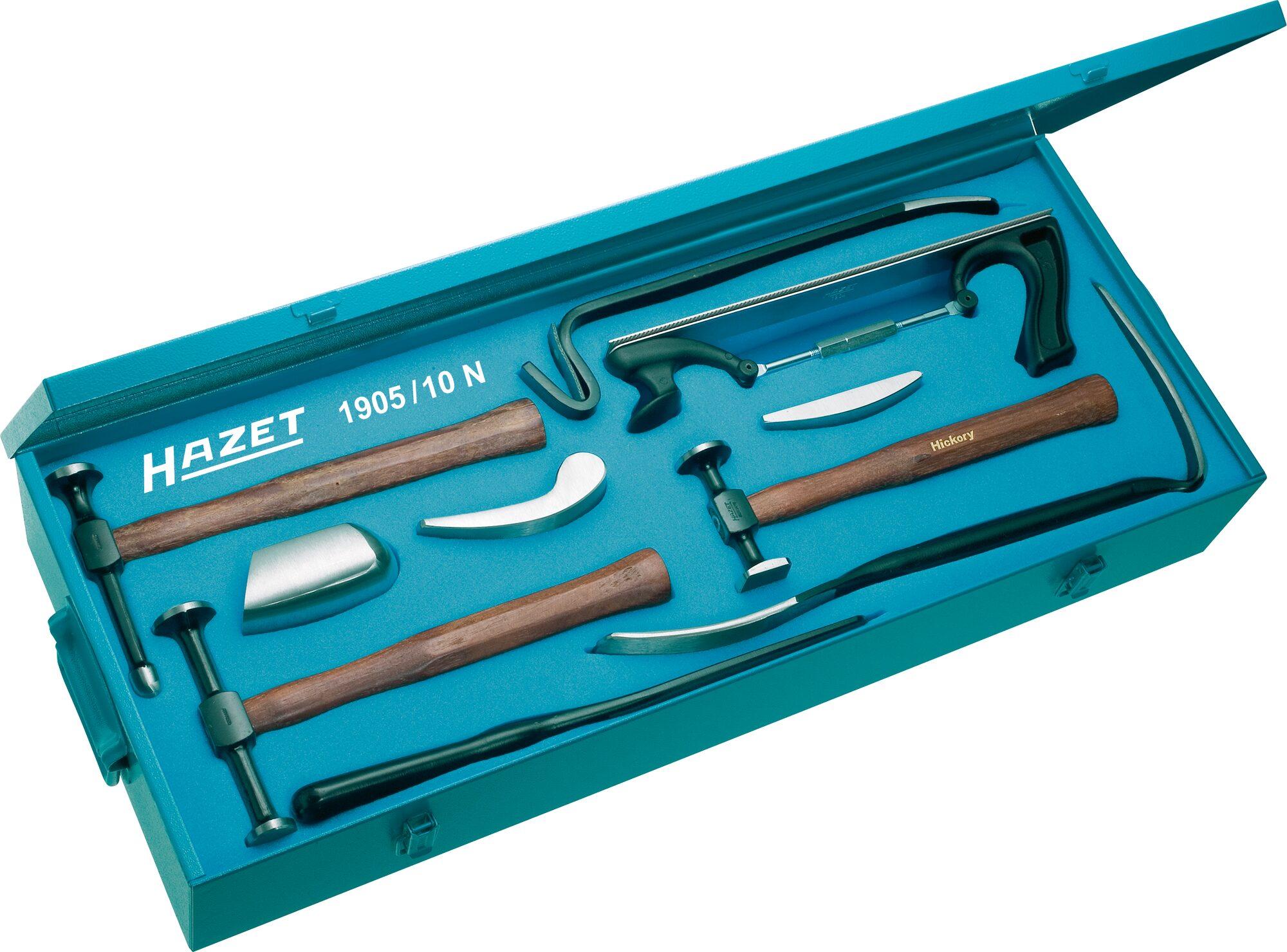 HAZET Ausbeulwerkzeug Satz 1905/10N ∙ Anzahl Werkzeuge: 10