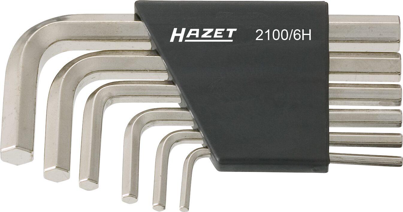 HAZET Winkelschraubendreher Satz 2100/6H ∙ Innen-Sechskant Profil ∙ 3–10 ∙ Anzahl Werkzeuge: 6
