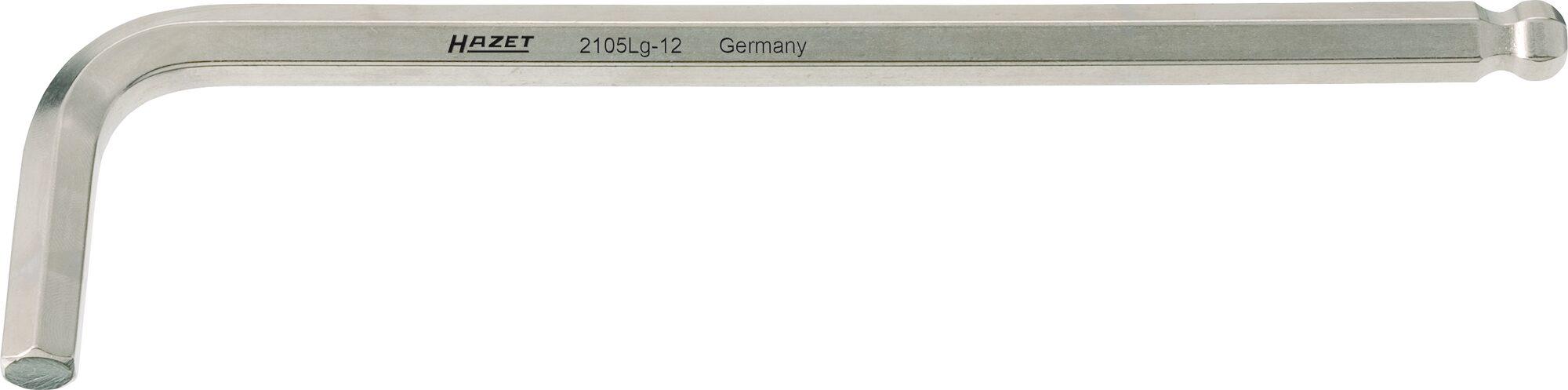 HAZET Winkelschraubendreher 2105LG-015 ∙ Innen-Sechskant Profil ∙ 1.5 mm