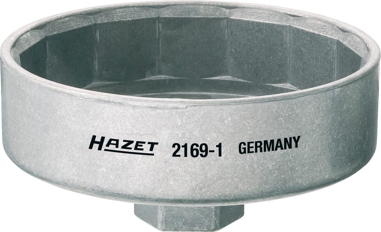 HAZET Ölfilter-Schlüssel 2169-1 ∙ Vierkant hohl 12,5 mm (1/2 Zoll) ∙ Außen-15-kant Profil ∙ 102 mm