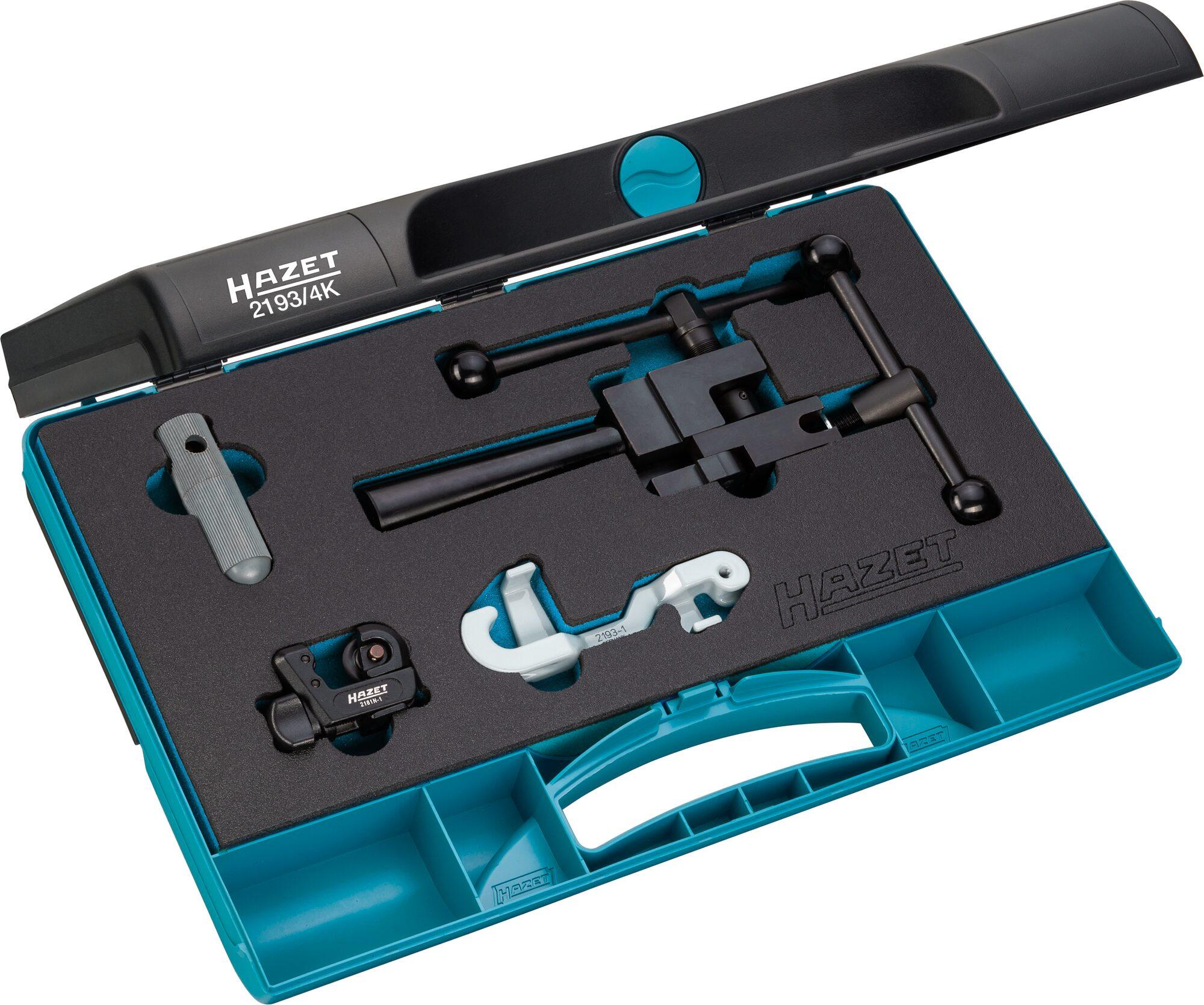 HAZET Bördelgerät Satz 2193/4K ∙ Anzahl Werkzeuge: 4