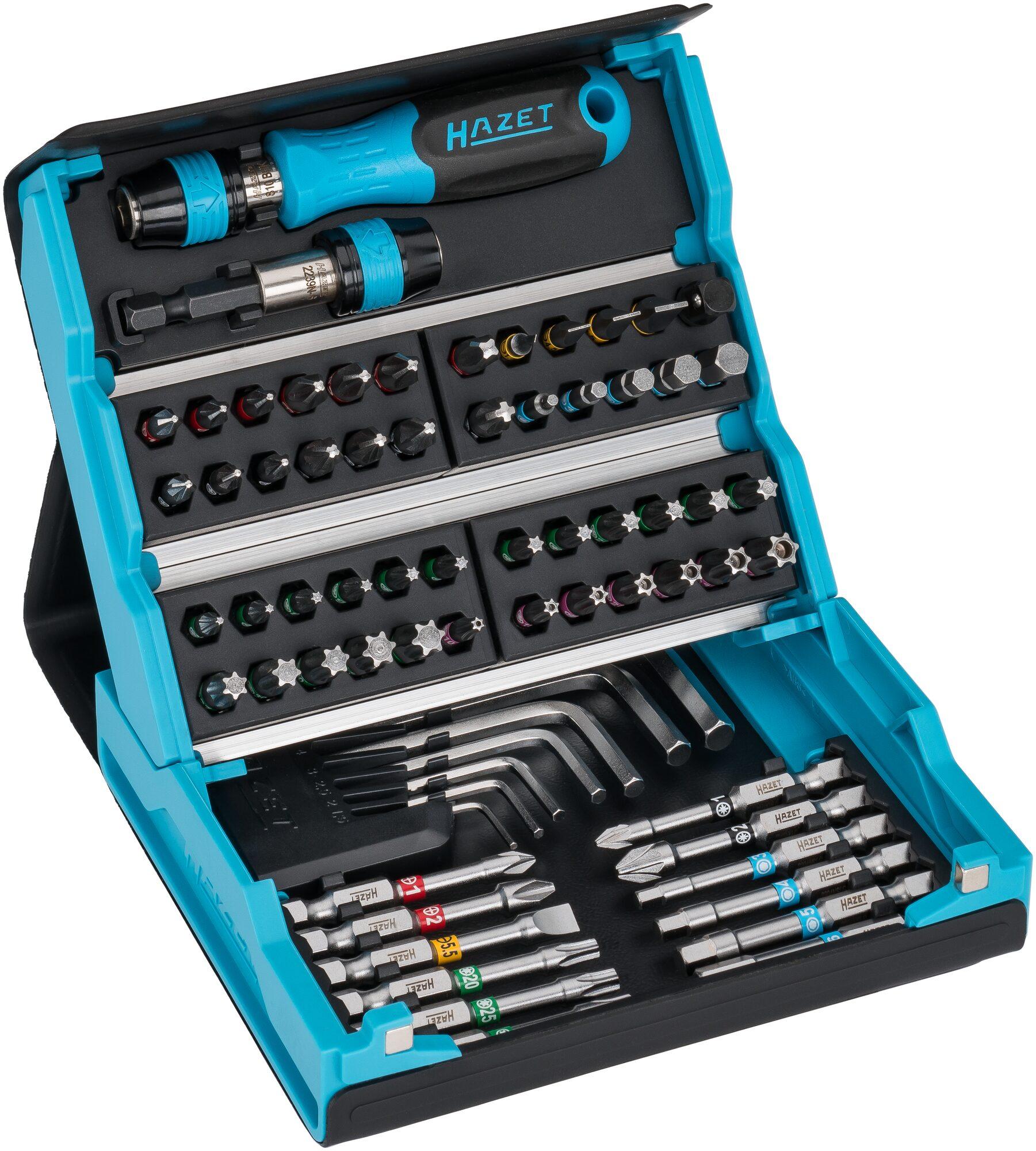 HAZET SmartCase Bit Satz 2200SC-1 ∙ Sechskant massiv ISO 1173-A 5,5 ∙ Anzahl Werkzeuge: 69