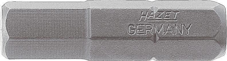 HAZET Bit 2206-5 ∙ Sechskant massiv 8 (5/16 Zoll) ∙ Innen-Sechskant Profil ∙ 5 mm