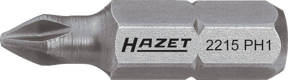 HAZET Bit 2215-PH2 ∙ Sechskant massiv 6,3 (1/4 Zoll) ∙ Kreuzschlitz Profil PH ∙ PH2