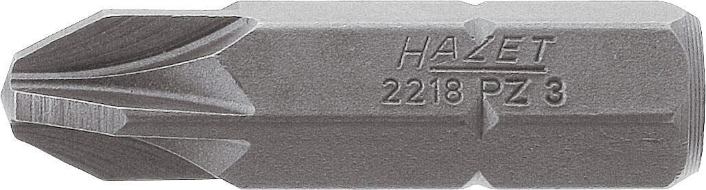 HAZET Bit 2218-PZ2 ∙ Sechskant massiv 8 (5/16 Zoll) ∙ Pozidriv Profil PZ ∙ PZ2