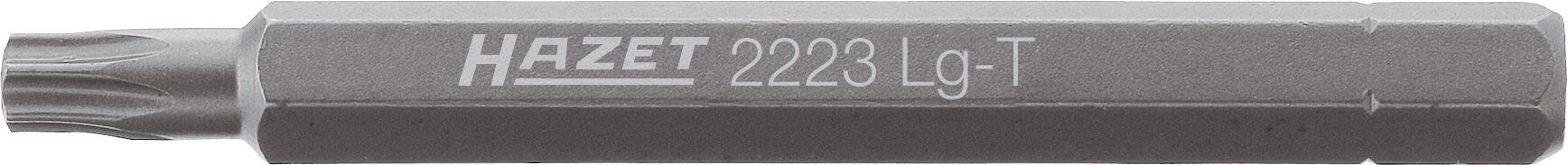 HAZET Bit 2223LG-T25 ∙ Sechskant massiv 6,3 (1/4 Zoll) ∙ Innen TORX® Profil ∙ T25