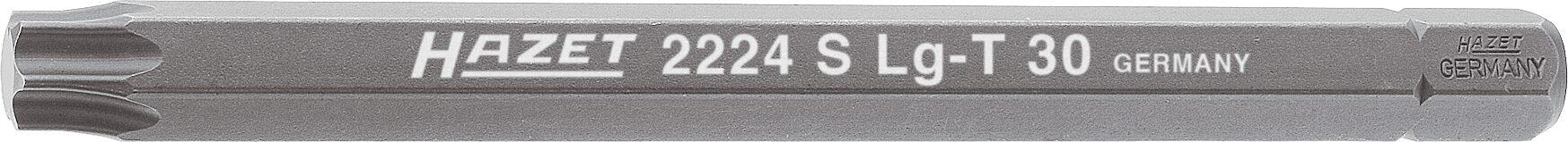 HAZET Bit 2224SLG-T30 ∙ Sechskant massiv 8 (5/16 Zoll) ∙ Innen TORX® Profil ∙ T30