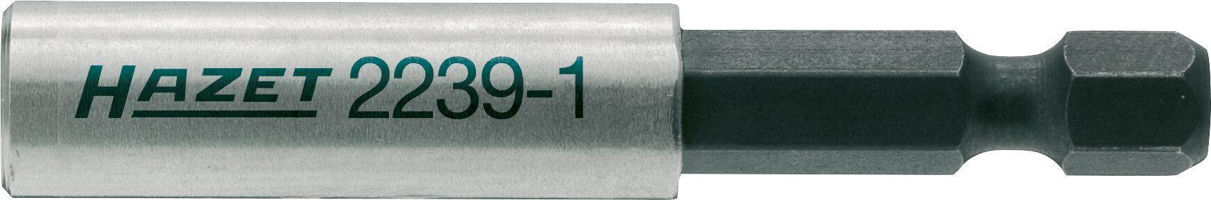 HAZET Adapter 2239-1 ∙ Sechskant massiv 6,3 (1/4 Zoll) ∙ Sechskant hohl 6,3 (1/4 Zoll)