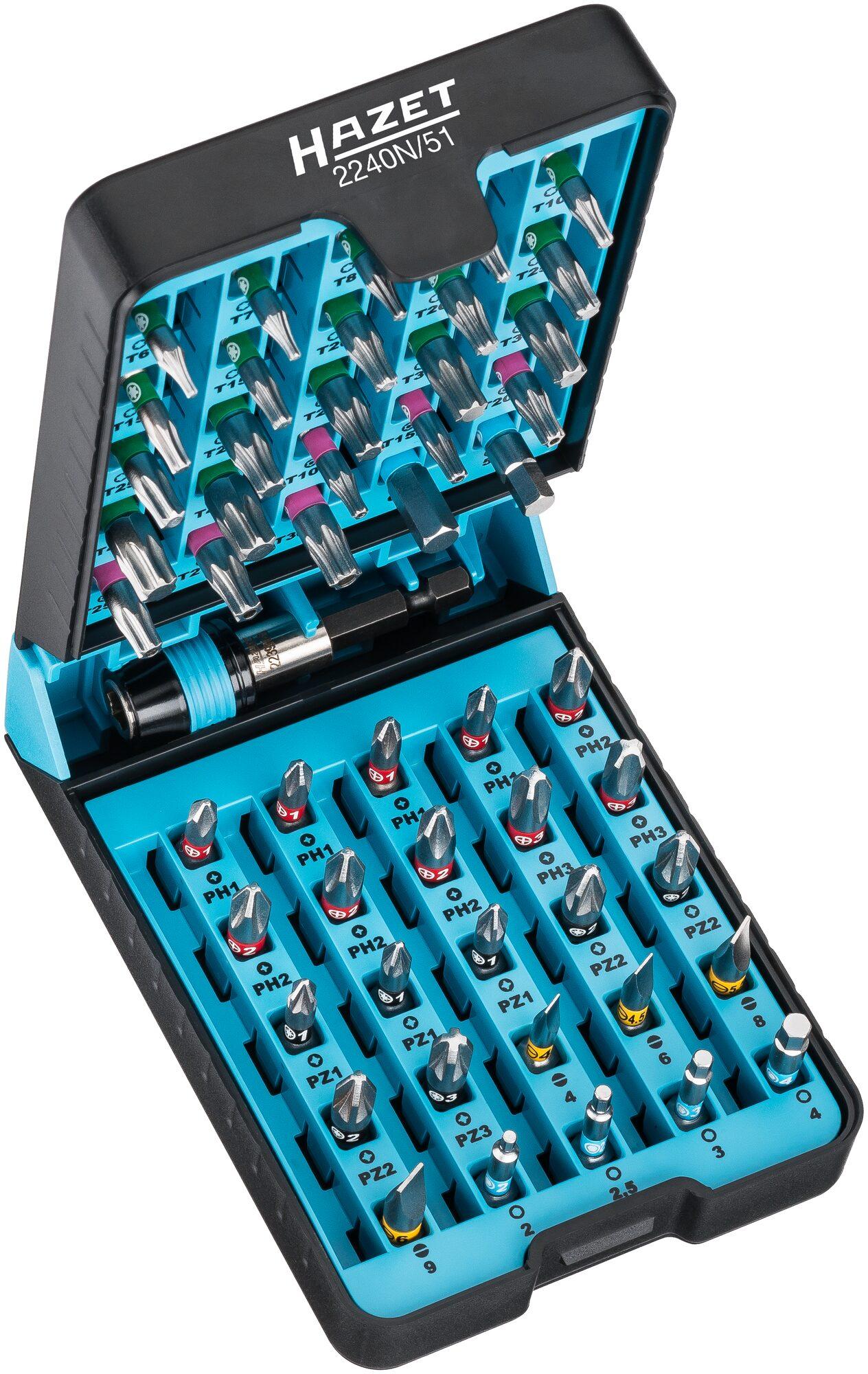 """HAZET """"BitE""""-Box – Bit Satz 2240N/51 ∙ Anzahl Werkzeuge: 51"""