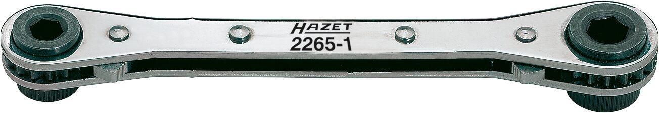 HAZET Umschaltknarre für Bits 2265-1 ∙ Sechskant hohl 6,3 (1/4 Zoll), Sechskant hohl 8 mm (5/16 Zoll)