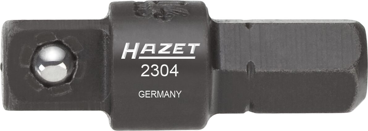 HAZET Adapter 2304 ∙ Sechskant massiv 6,3 (1/4 Zoll) ∙ Vierkant massiv 6,3 mm (1/4 Zoll)