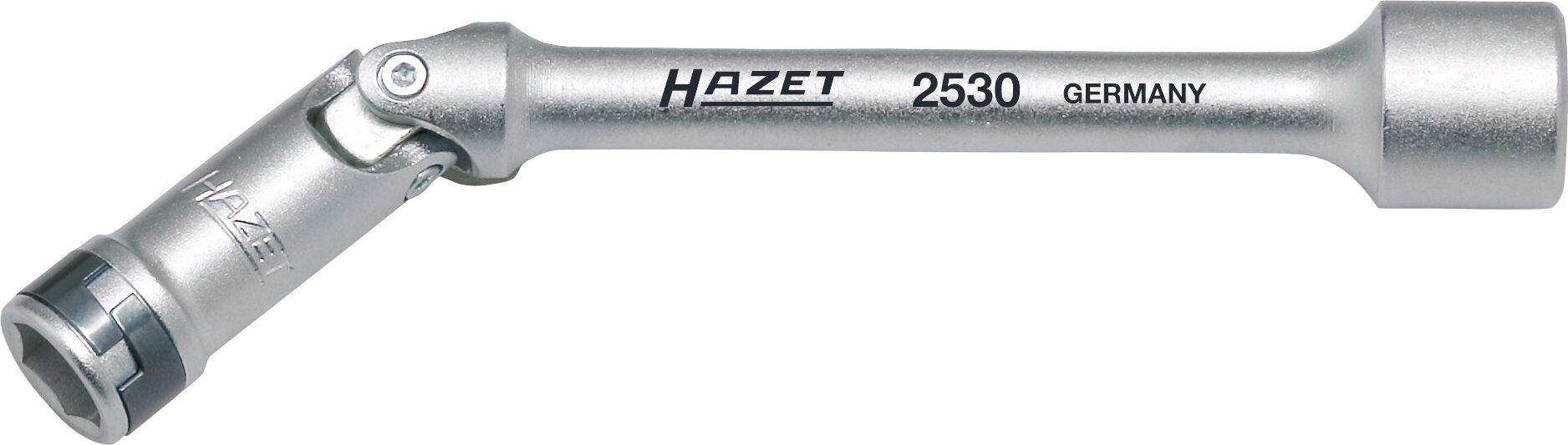 HAZET Glühkerzen Steckschlüssel 2530 ∙ Vierkant hohl 10 mm (3/8 Zoll) ∙ Außen-Sechskant-Tractionsprofil ∙ 10 mm