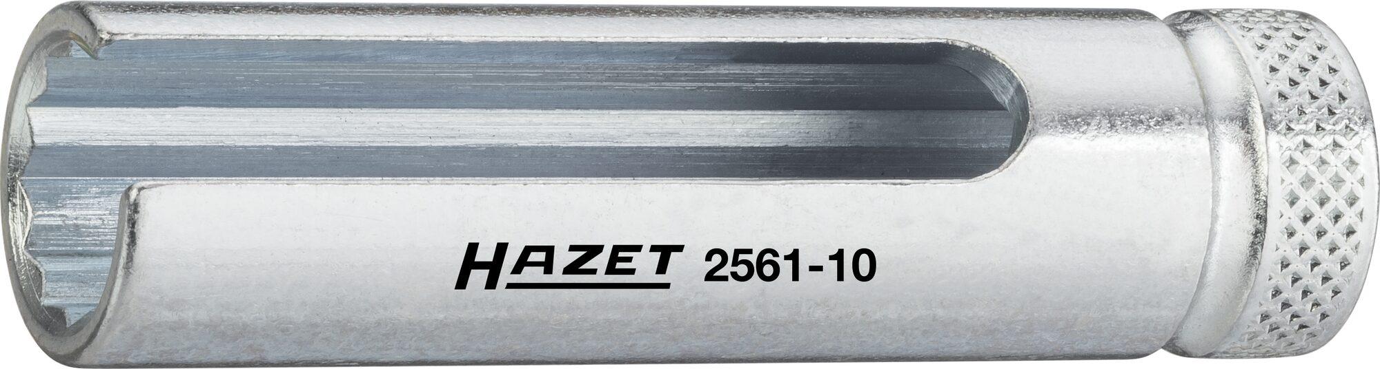 HAZET Turbolader Steckschlüsseleinsatz ∙ Doppelsechskant 2561-10 ∙ Vierkant hohl 6,3 mm (1/4 Zoll) ∙ 10 mm