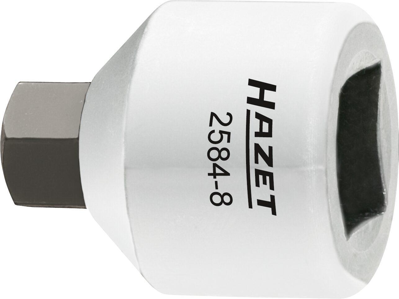 HAZET Bremssattel Schraubendreher-Steckschlüsseleinsatz 2584-8 ∙ Vierkant hohl 10 mm (3/8 Zoll) ∙ Innen-Sechskant Profil