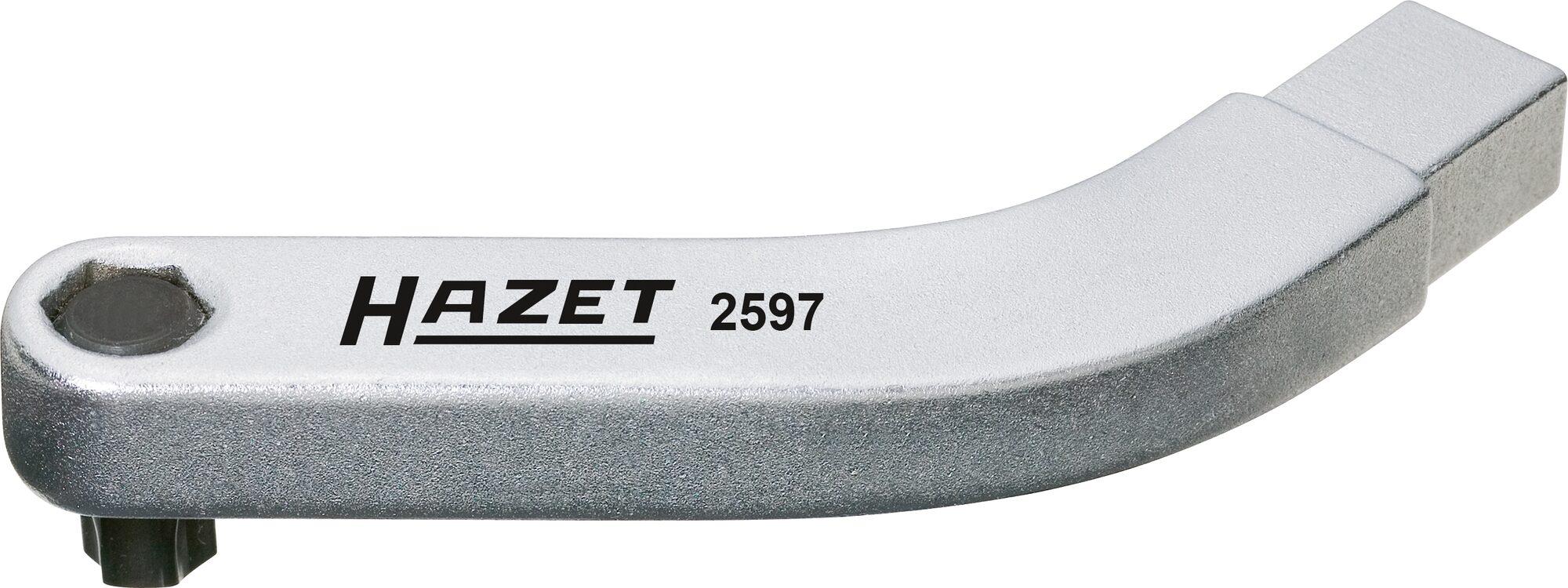 HAZET Türscharnier Einsteck-Werkzeug ∙ gebogener Bithalter 2597 ∙ Einsteck-Vierkant 9 x 12 mm ∙ T45