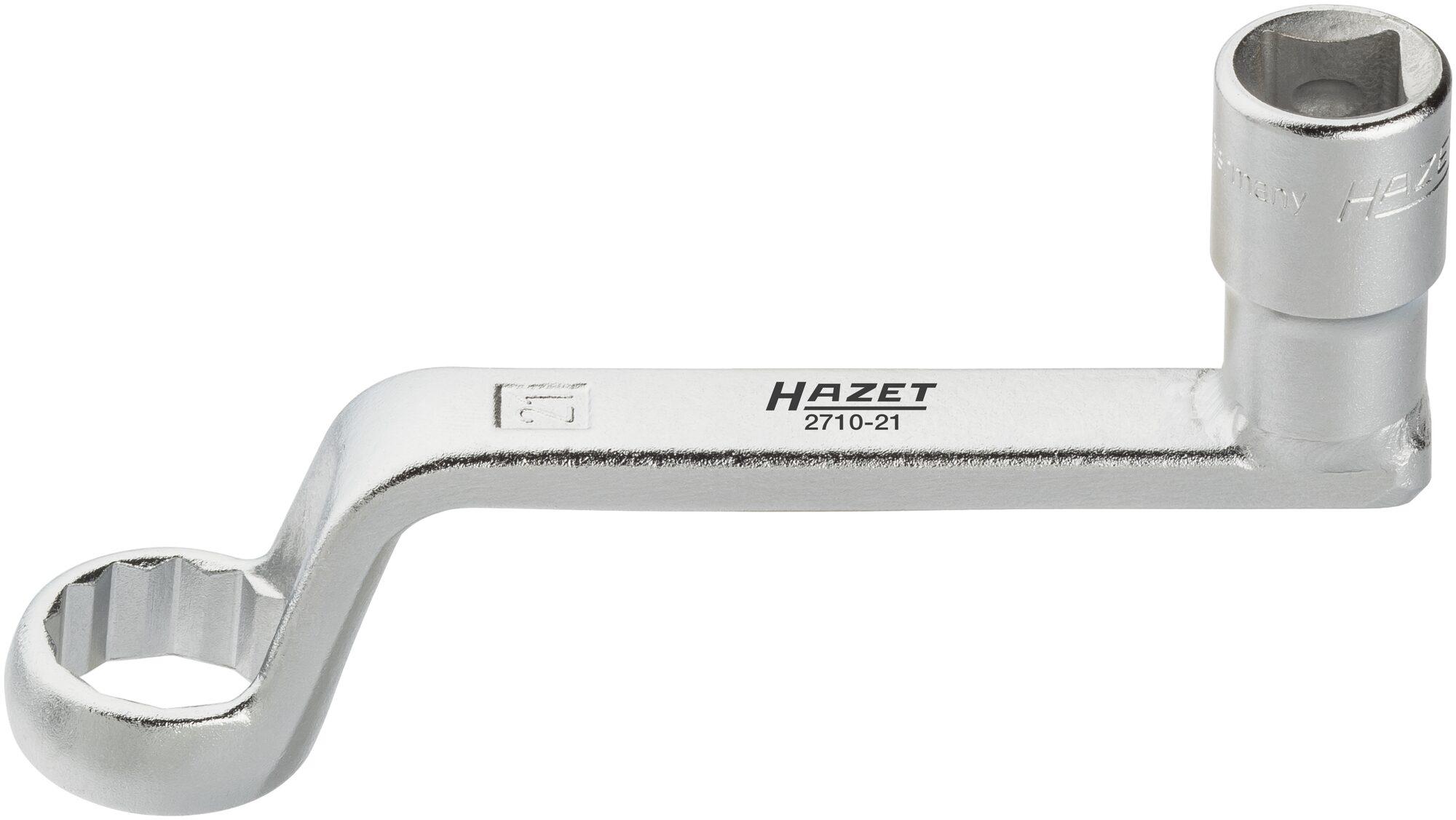 HAZET Sturzeinstellung Spezialwerkzeug 2710-21 ∙ Vierkant hohl 12,5 mm (1/2 Zoll) ∙ Außen-Doppel-Sechskant Profil
