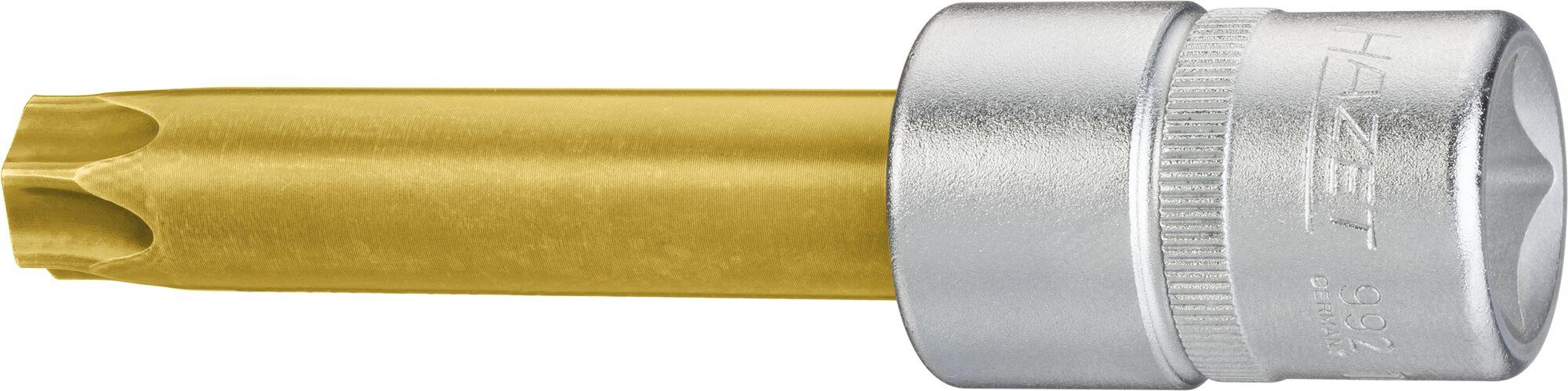 HAZET Kardanwellen-Einsatz TORX® Schraubendreher-Einsatz 2756-T60 ∙ Vierkant hohl 12,5 mm (1/2 Zoll) ∙ T60