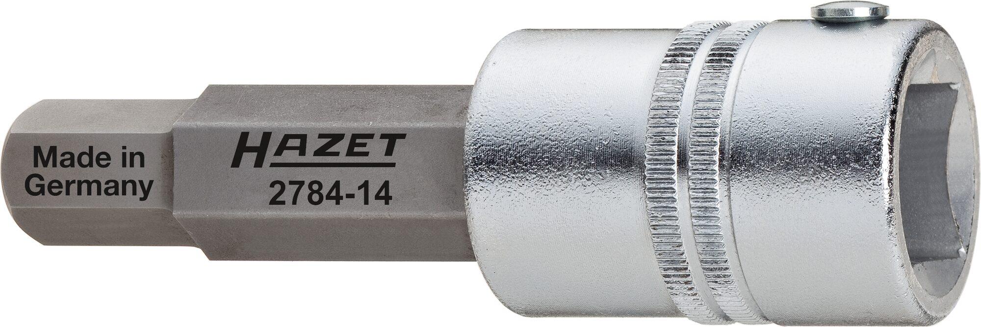 HAZET Bremssattel Schraubendreher-Steckschlüsseleinsatz 2784-14 ∙ Vierkant hohl 20 mm (3/4 Zoll) ∙ Innen-Sechskant Profil