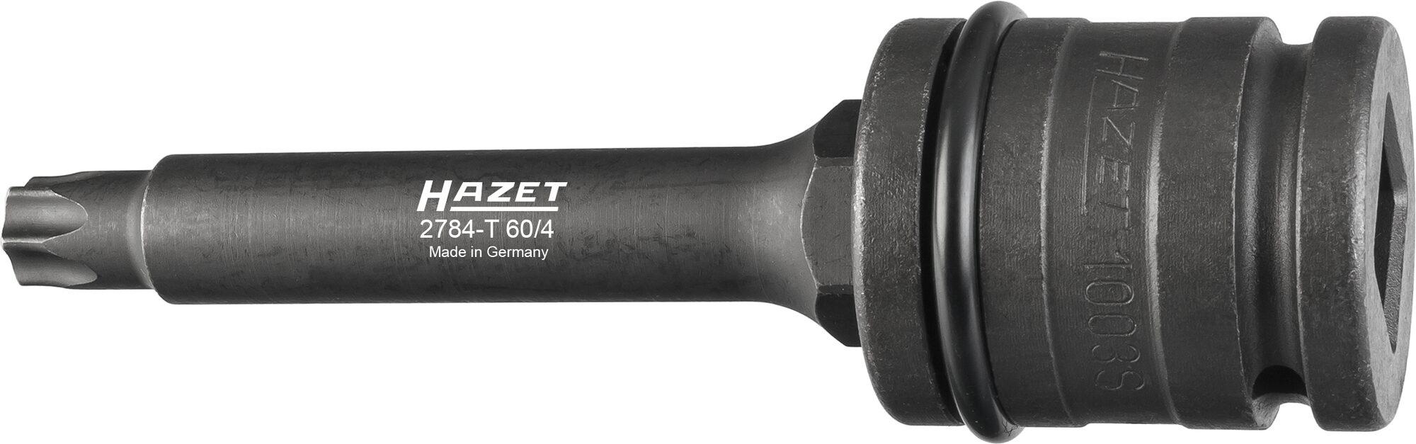 HAZET Bremsscheiben Schraubendreher-Steckschlüsseleinsatz Satz 2784-T60/4 ∙ Vierkant hohl 20 mm (3/4 Zoll) ∙ T60