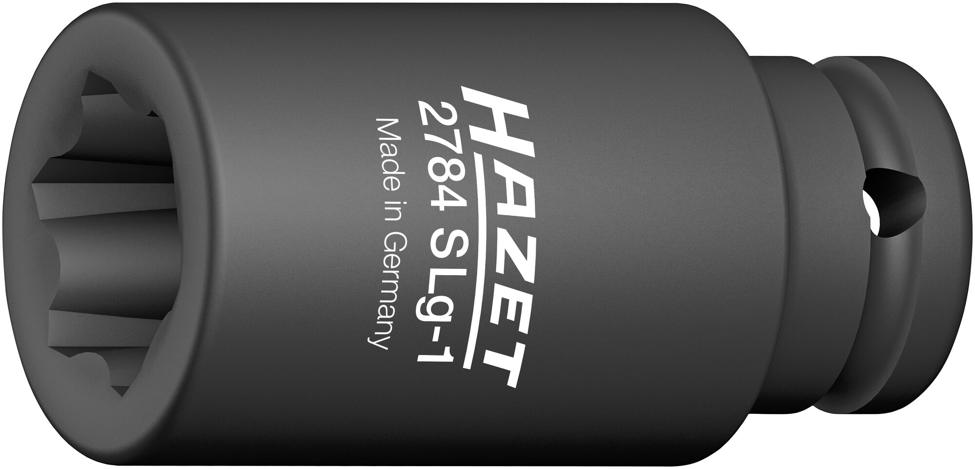 HAZET Schlag- ∙ Maschinenschrauber Steckschlüssel-Einsatz ∙ mit Sonderprofil 2784SLG-1 ∙ Rillenprofil ∙ 39 mm