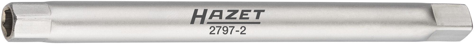 HAZET Stoßfänger Rohr-Steckschlüssel 2797-2 ∙ Vierkant hohl 6,3 mm (1/4 Zoll) ∙ Außen-Sechskant Profil ∙ 8 mm