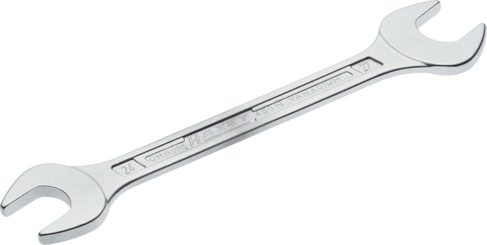 HAZET Doppel-Maulschlüssel 450N-24X27 ∙ Außen-Sechskant Profil ∙ 24 x 27 mm