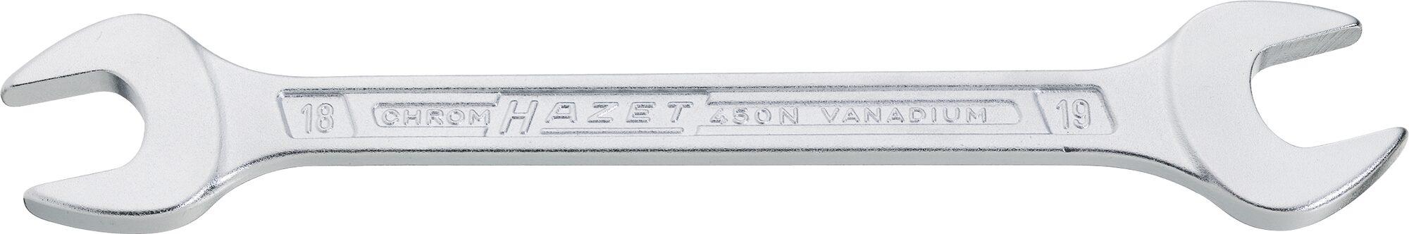 HAZET Doppel-Maulschlüssel 450NA-25/32X7/8VKH ∙ Außen-Sechskant Profil ∙ 25⁄32 x 7⁄8 ″