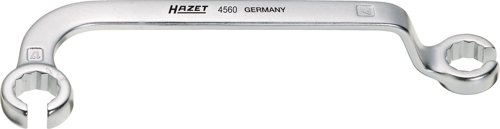 HAZET Einspritzleitungs-Schlüssel 4560 ∙ Außen-Doppel-Sechskant Profil ∙ 17 x 17 mm