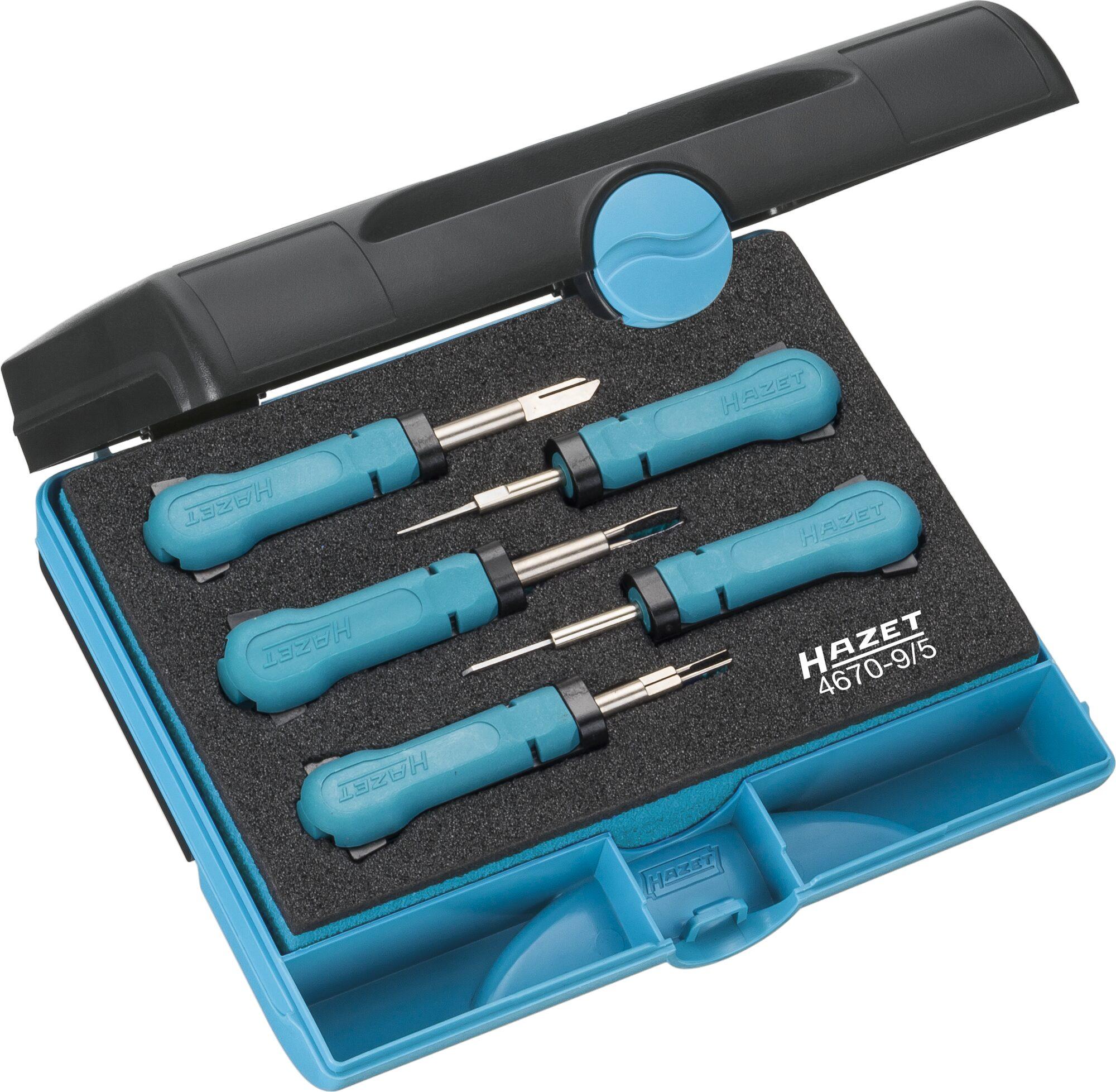 HAZET Kabelentriegeler Sortiment 4670-9/5 ∙ Anzahl Werkzeuge: 5