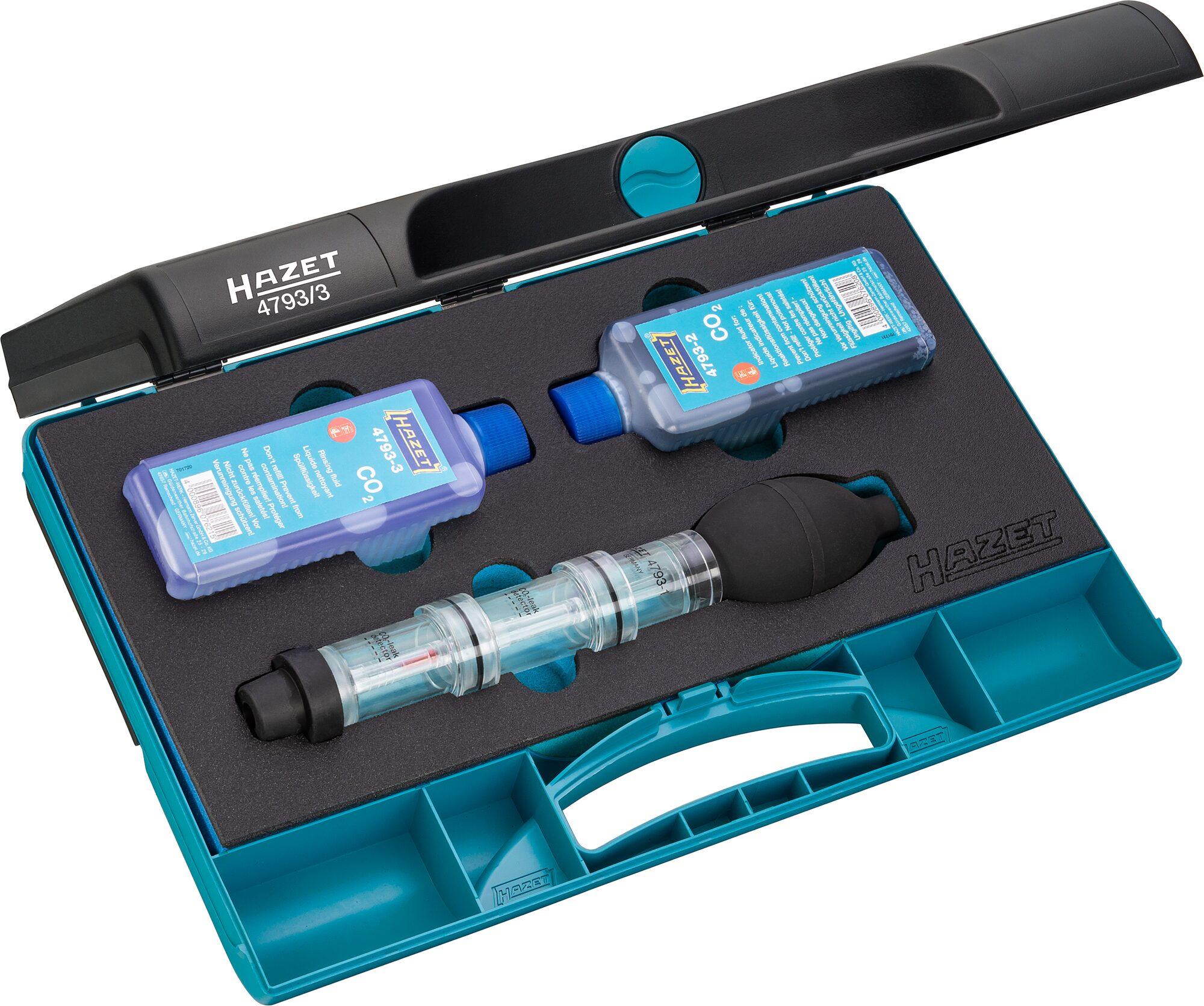 HAZET Zylinderkopf Dichtigkeits-Prüfgerät 4793/3 ∙ Anzahl Werkzeuge: 3