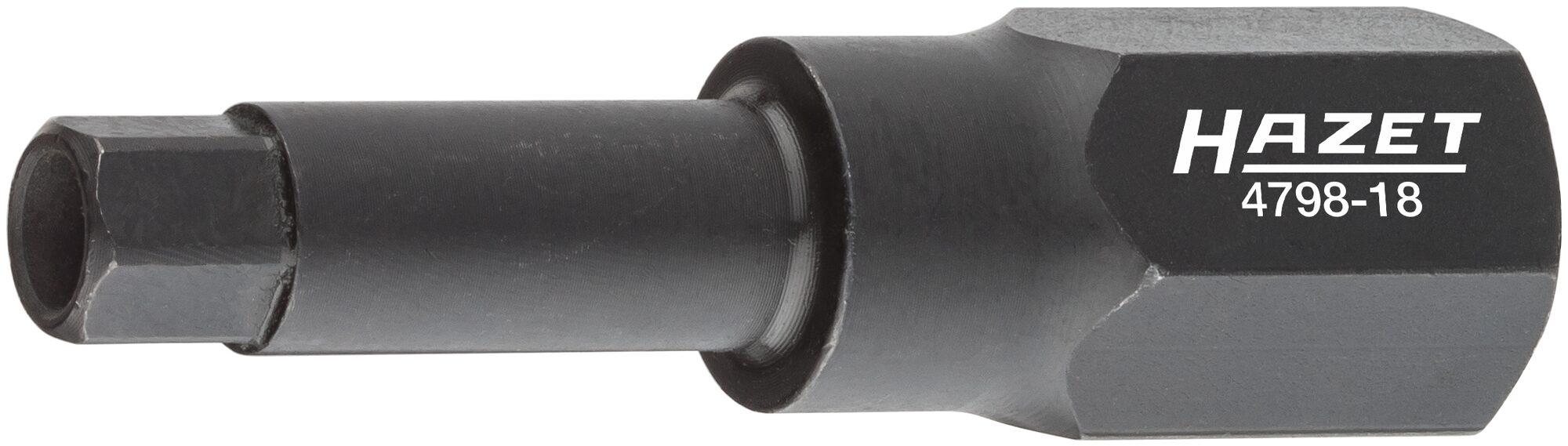 HAZET Spezial Schraubendreher-Steckschlüsseleinsatz für Magnetventil-Verschraubung 4798-18 ∙ Außen-Sechskant 19mm