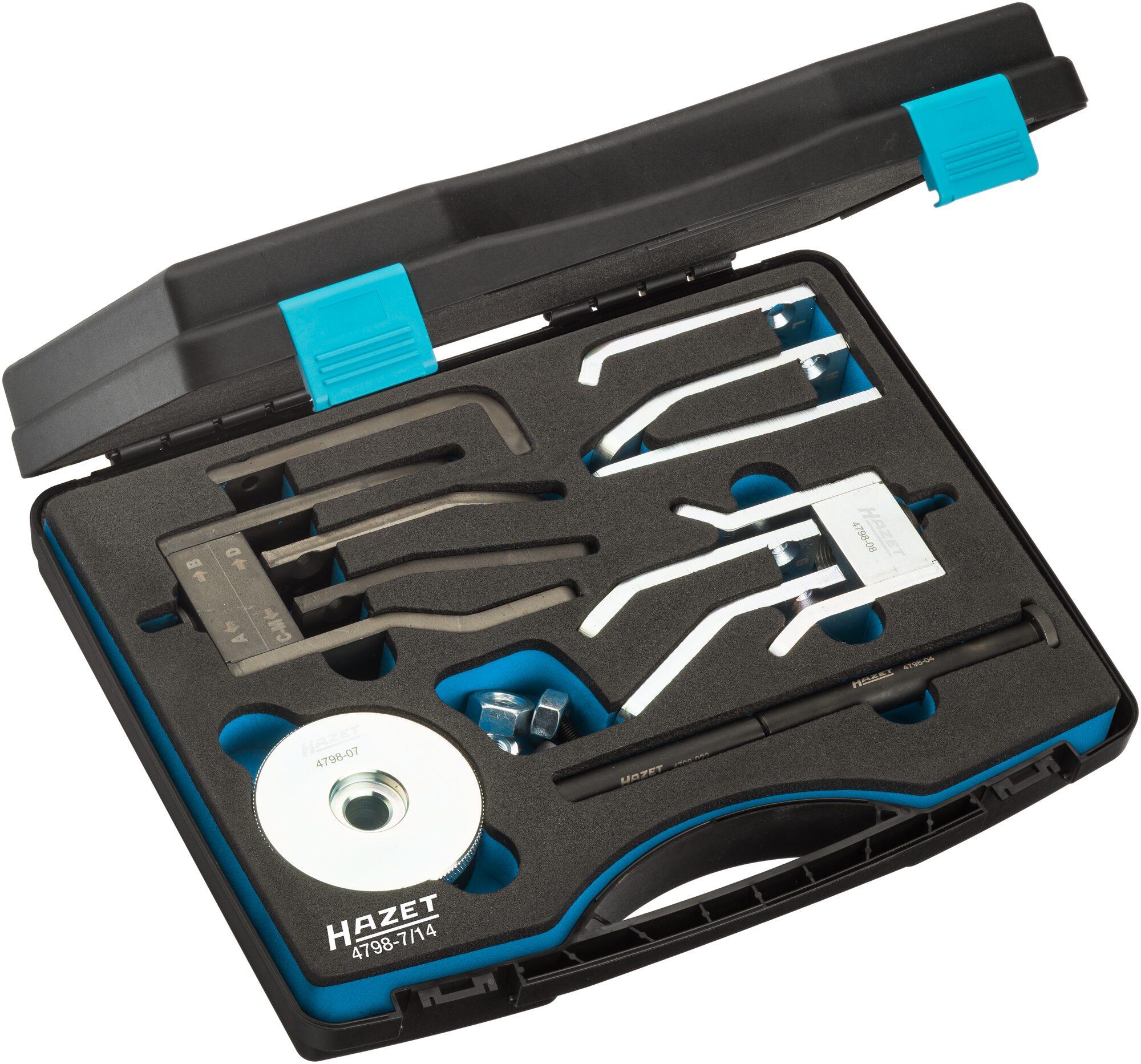 HAZET Universal Injektorwerkzeug-Satz Denso 4798-7/14 ∙ Anzahl Werkzeuge: 14