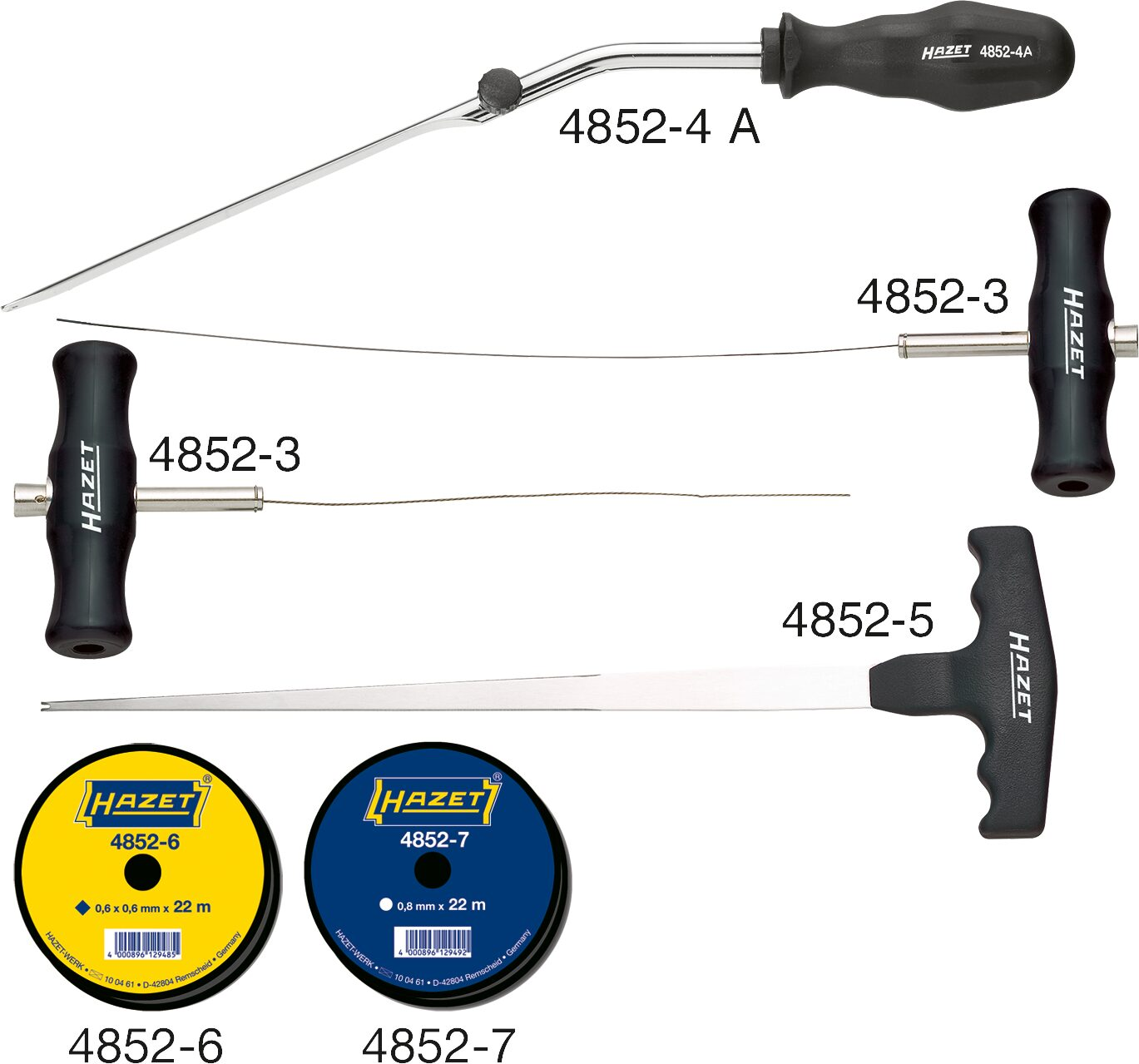 HAZET Ausglaswerkzeug Satz 4852/6 ∙ Anzahl Werkzeuge: 6