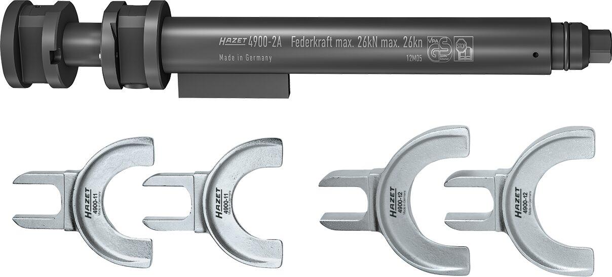 HAZET Sicherheits Federspanner-Satz 4900-2A/5 ∙ Anzahl Werkzeuge: 5