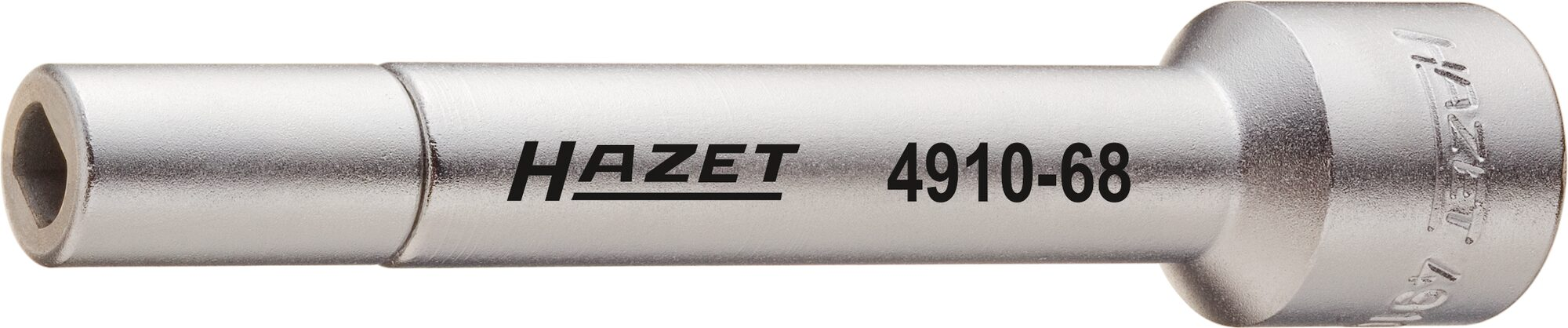 HAZET Verlängerung 4910-58 ∙ Vierkant hohl 12,5 mm (1/2 Zoll) ∙ Zapfenprofil hohl ∙ Außensicherung 5 x 8 mm