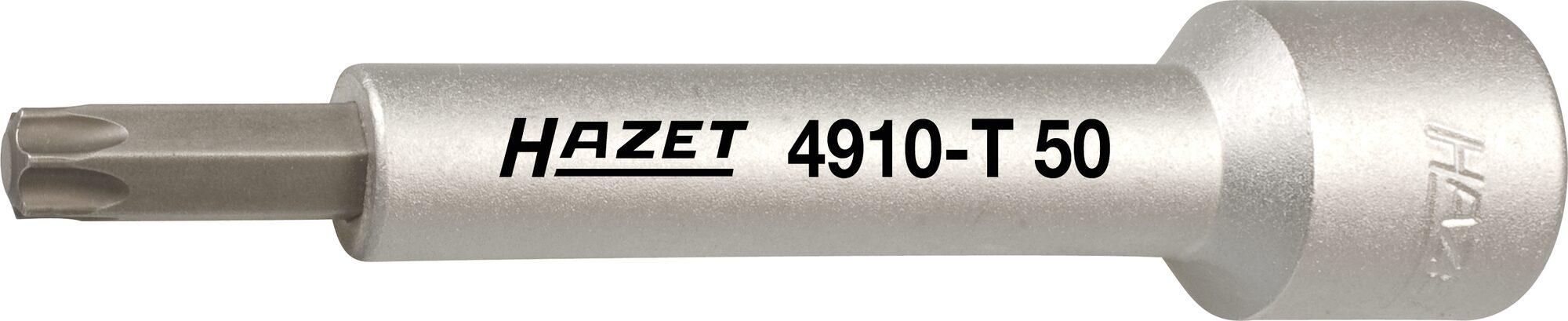 HAZET Gegenhalter für Kolbenstange 4910-T50 ∙ Vierkant hohl 12,5 mm (1/2 Zoll) ∙ Innen TORX® Profil ∙ T50