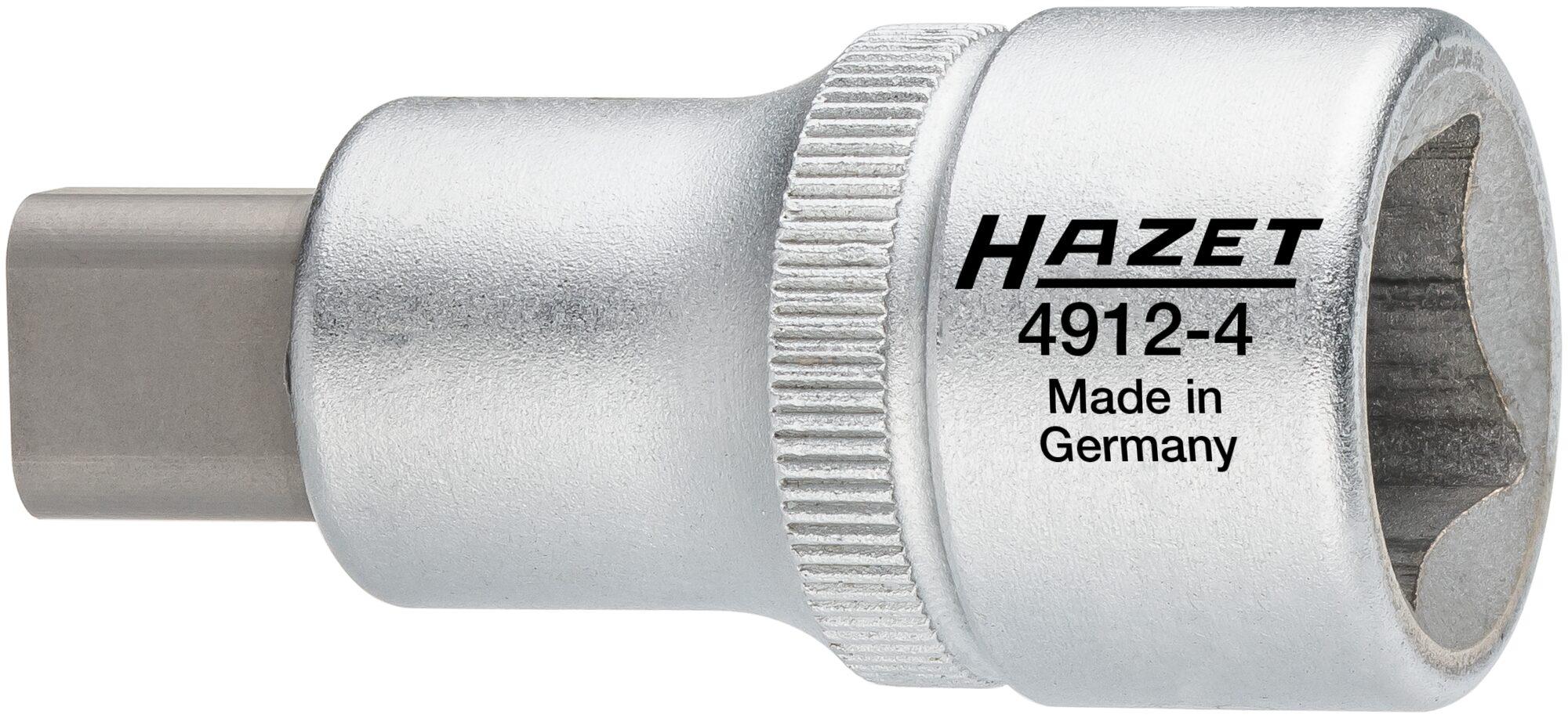 HAZET Radlagergehäuse-Spreizer 4912-4 ∙ Vierkant hohl 12,5 mm (1/2 Zoll) ∙ Zapfenprofil massiv