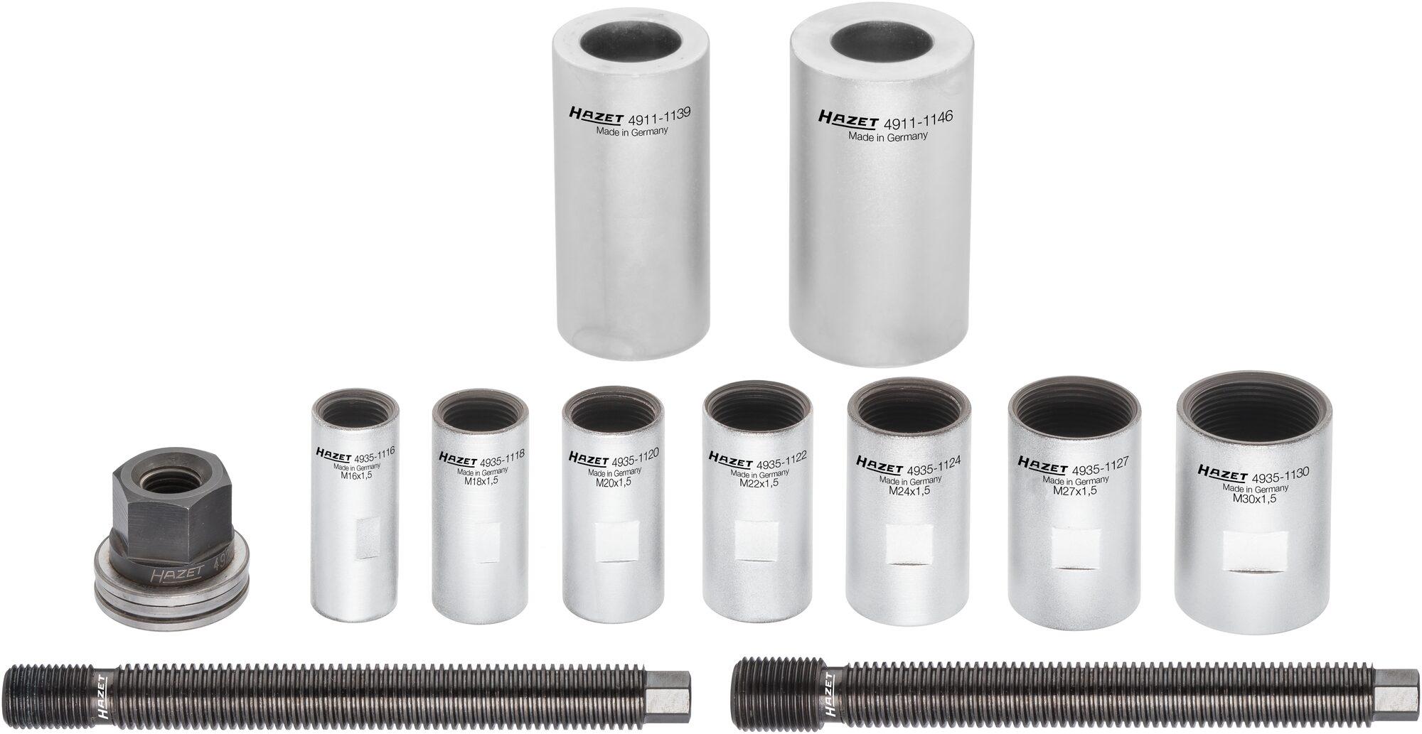 HAZET Antriebswellen Demontage / Montage Satz 4935-11/12 ∙ Anzahl Werkzeuge: 12